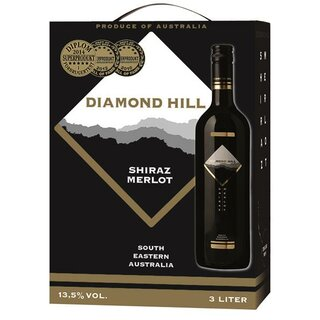 Diamond Hill Merlot Shiraz rødvin 13,5% Vol. 3l BIB (AU)