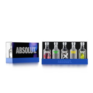 Absolut Five Vodka miniaturer, 40% alk., 5 x 0,05l