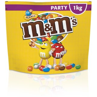 M&M´s Peanuts 1kg Party Bag