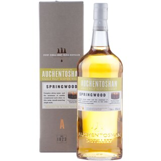 Auchentoshan Springwood, Single Malt Scotch Whisky, 40% alk., 1l