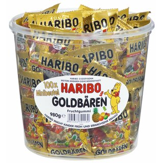 Haribo Goldbären Mini 100Stk. 980g Ds.