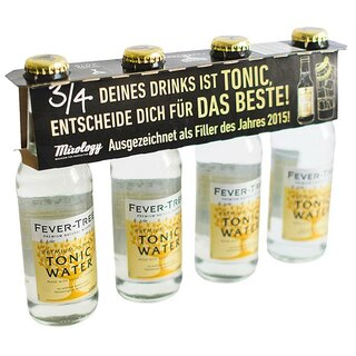 Fever Tree Indian Tonic Water 4 x 0,2 l MW