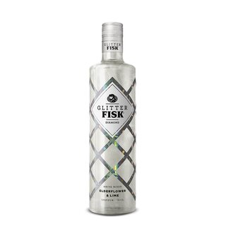 Glitter Fisk Diamond Elderflower og Lime 0,7 l